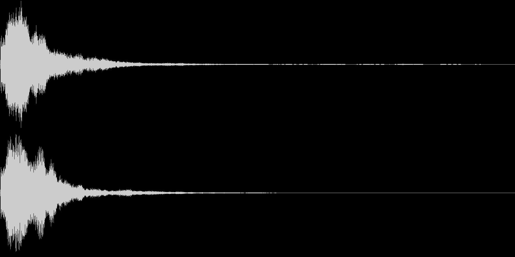 キラキラ 発見 見つける 発明 開始 3の未再生の波形