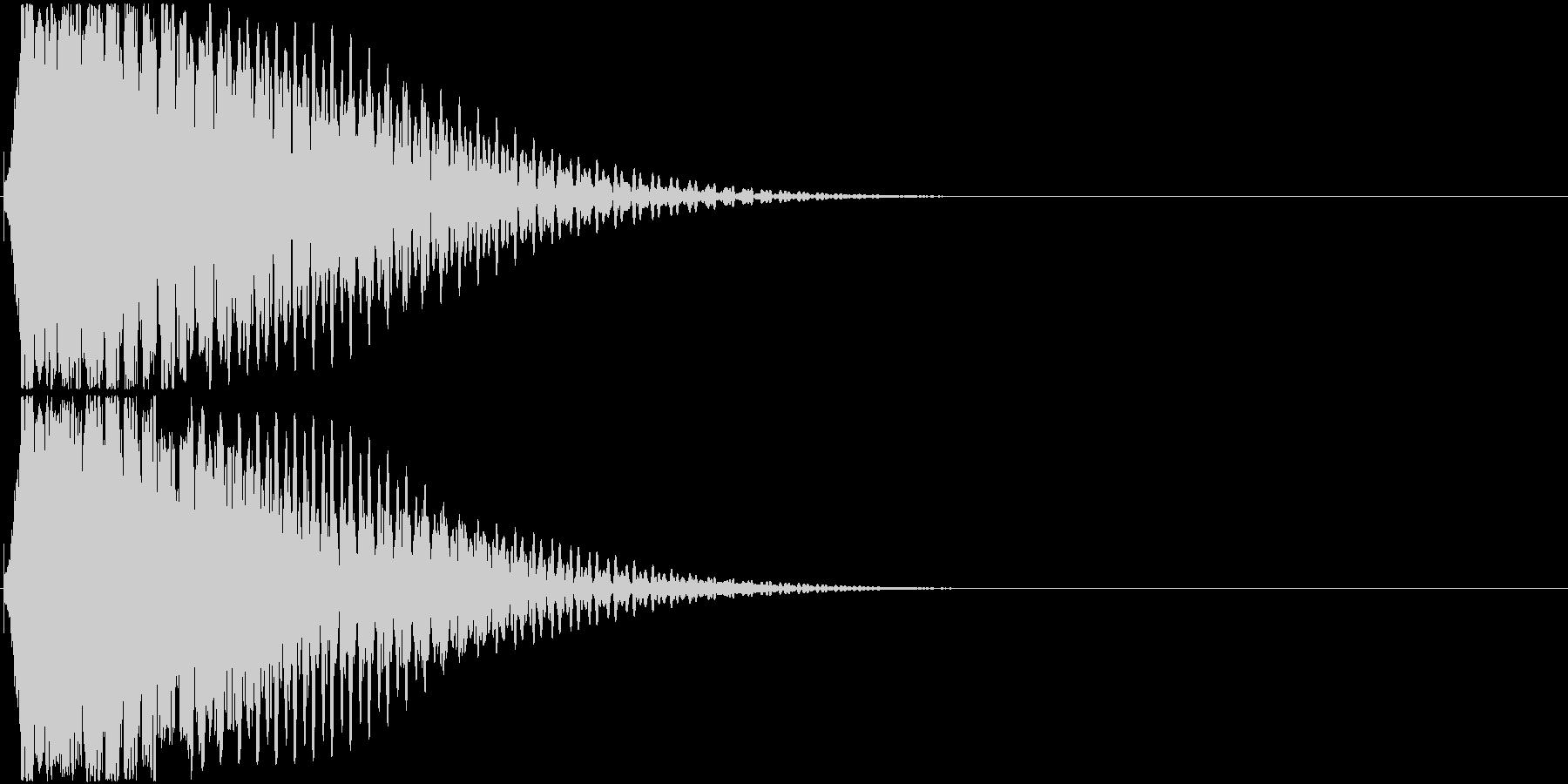 効果音。キュイーン音01(ひらめきの音)の未再生の波形