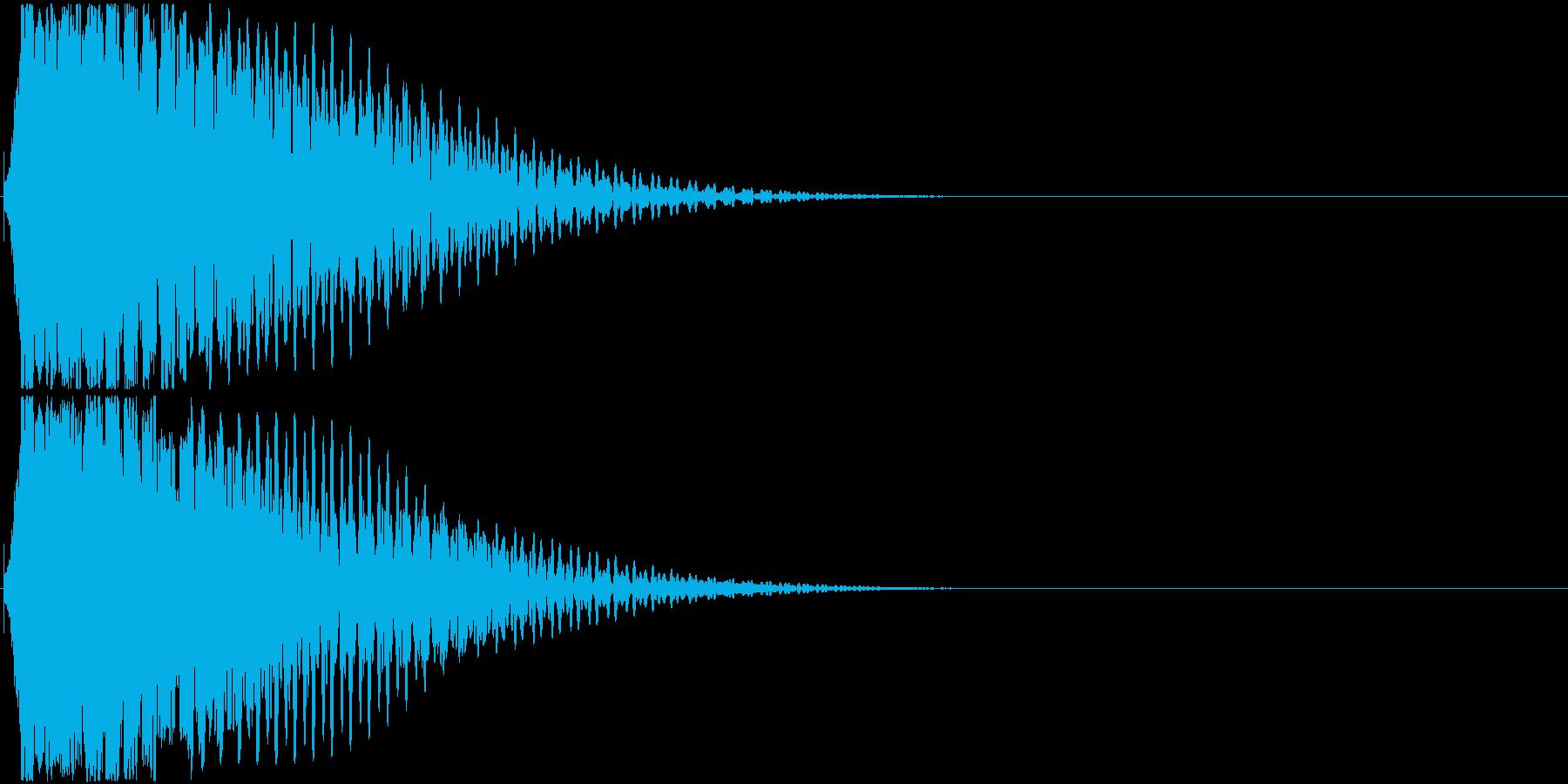 効果音。キュイーン音01(ひらめきの音)の再生済みの波形