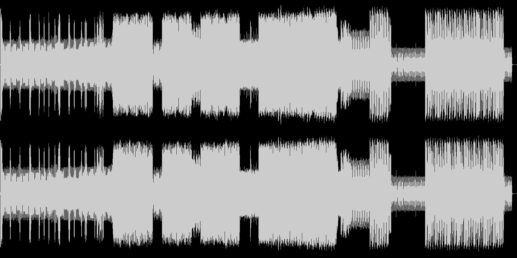 ノイジーでインダストリアなルテクノの未再生の波形