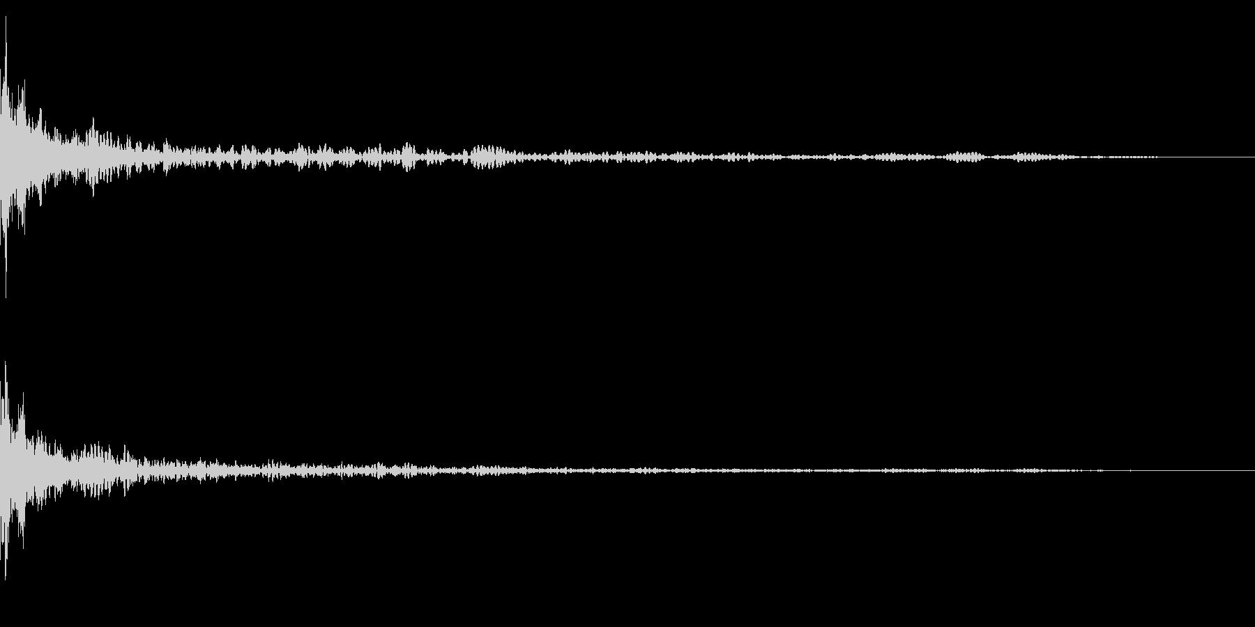 ホラー系アタック音25の未再生の波形