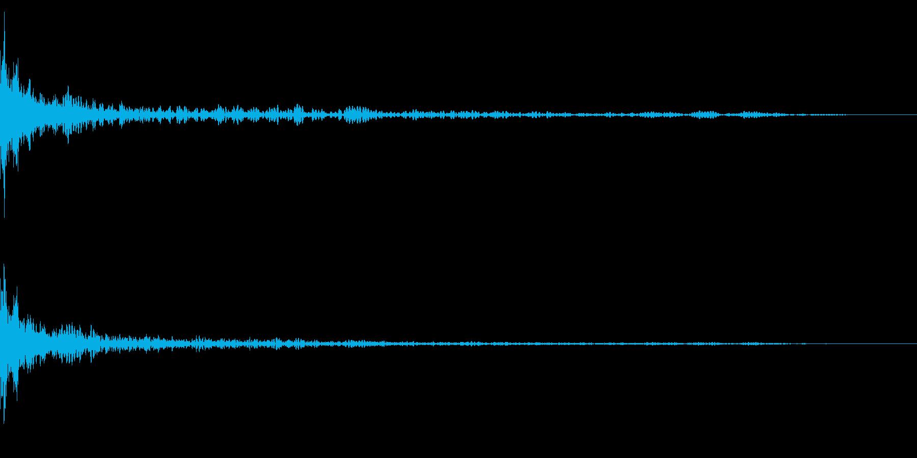 ホラー系アタック音25の再生済みの波形
