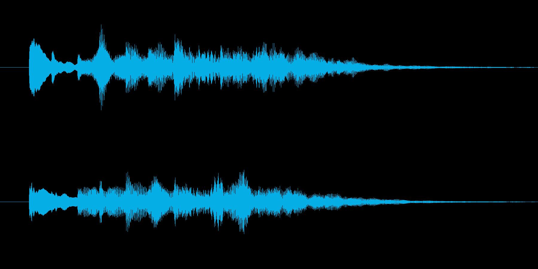 ソフトエレピ風なジングルの再生済みの波形