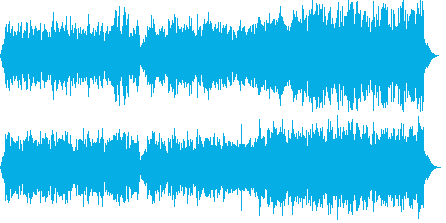 堂々とした入場行進曲の再生済みの波形