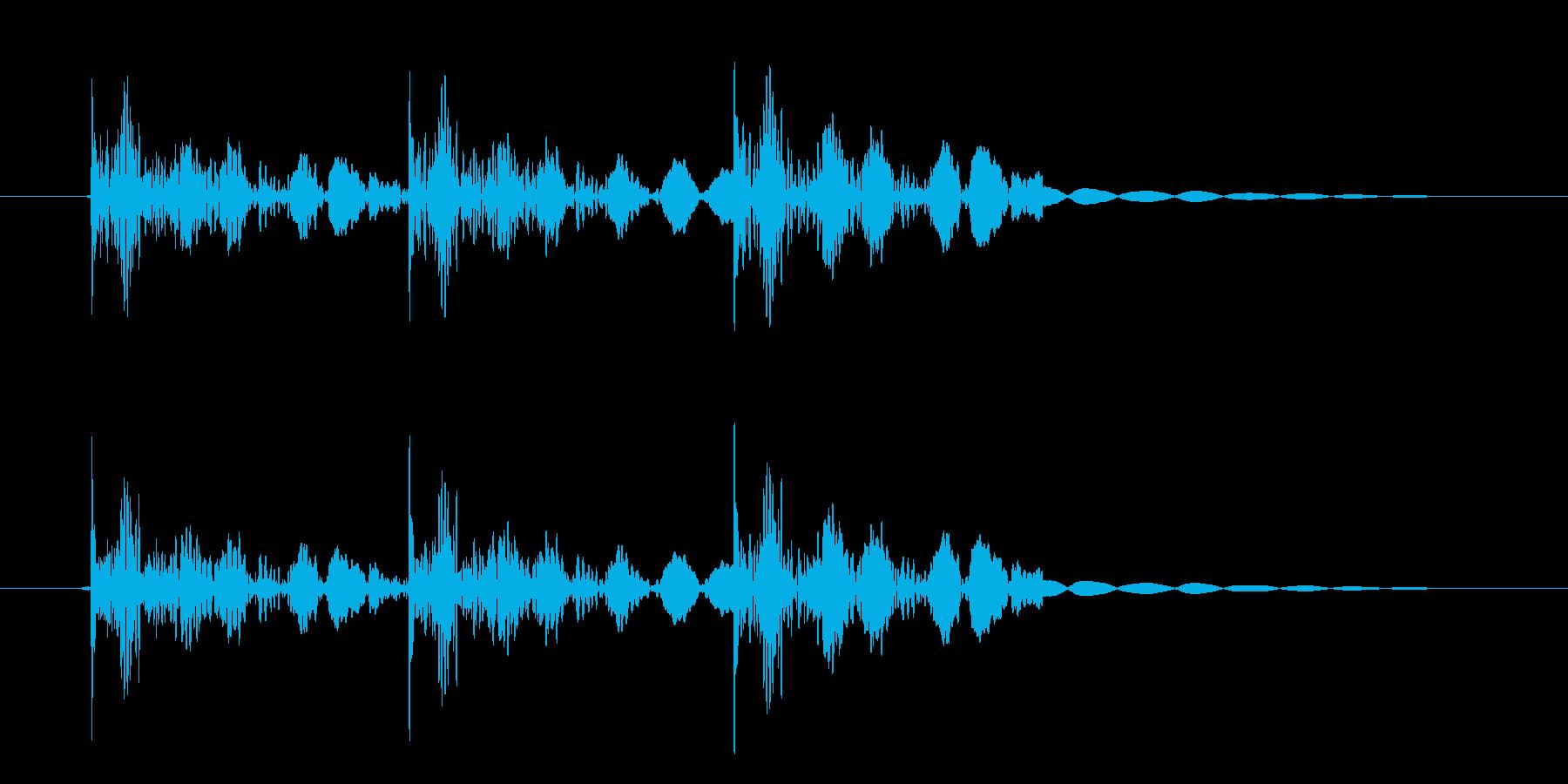 恐怖シリーズ3.ノックオン(鉄製3回)の再生済みの波形