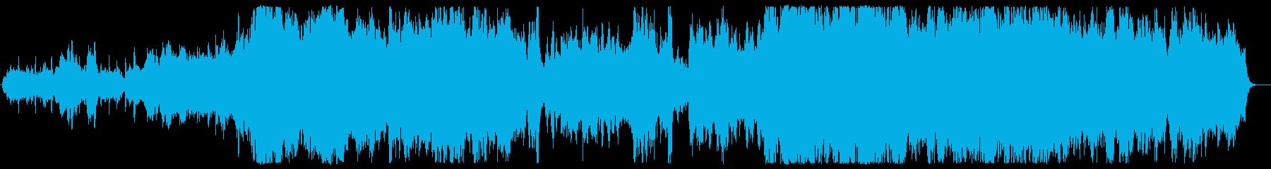 ミステリー・ドラマ風の冷たいカルテットの再生済みの波形