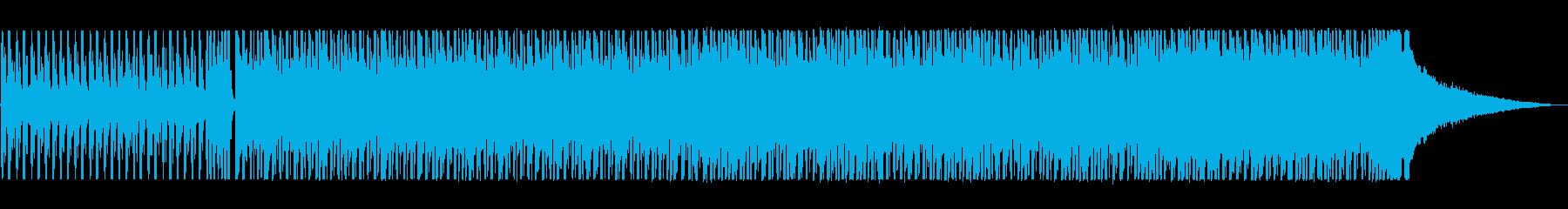 軽快なリズムのかっこいいテクノポップの再生済みの波形
