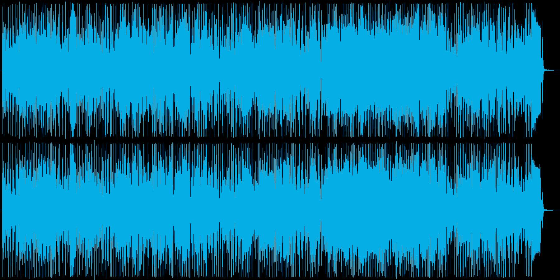 ラテン風の楽しげなソング1の再生済みの波形
