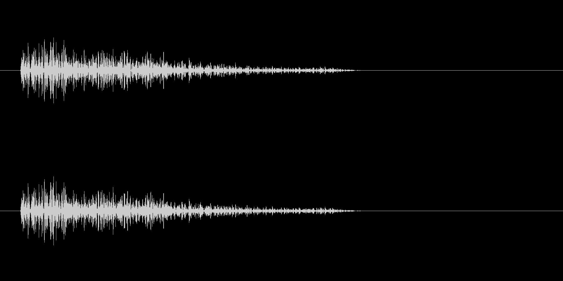 バーン(爆発音)1の未再生の波形