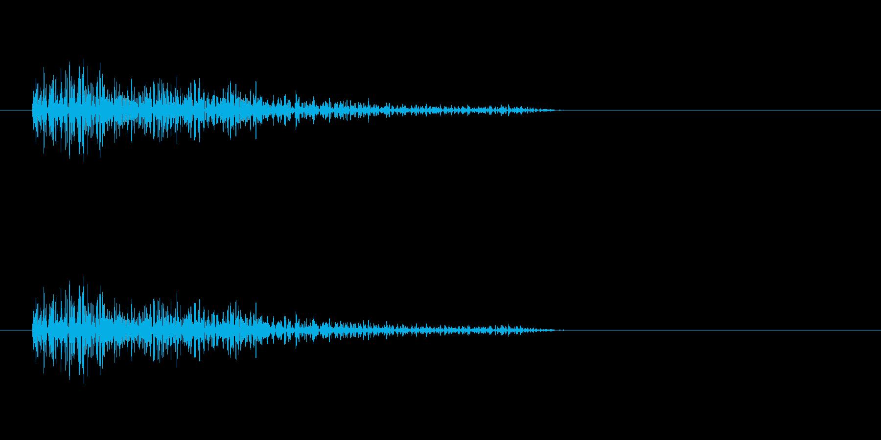 バーン(爆発音)1の再生済みの波形