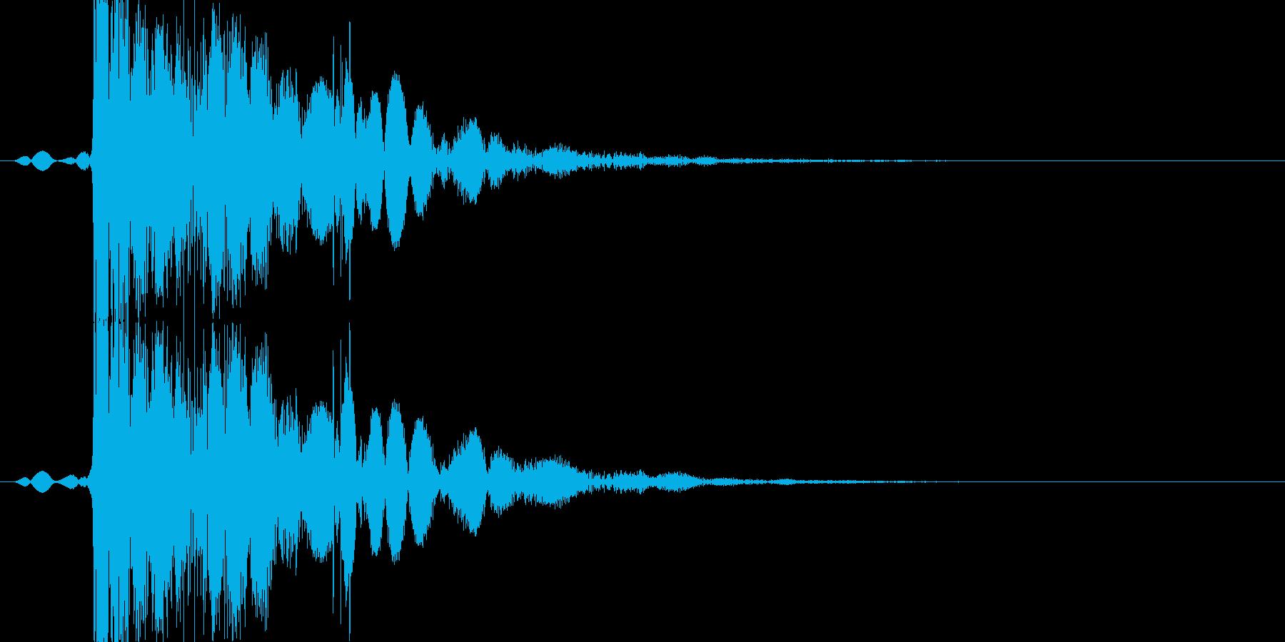 【格闘】パンチ・殴る #2の再生済みの波形