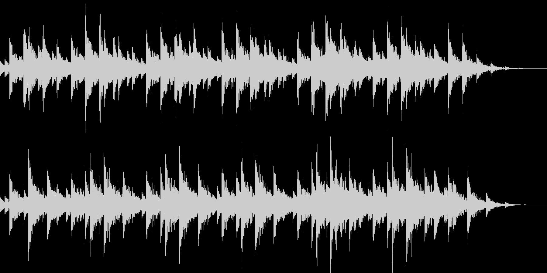 きらきらとしたBGMの未再生の波形