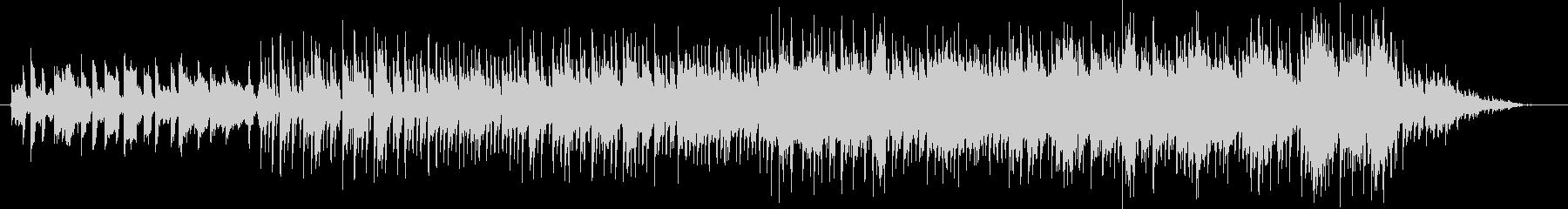 クールなピアノリフのジャズロックの未再生の波形