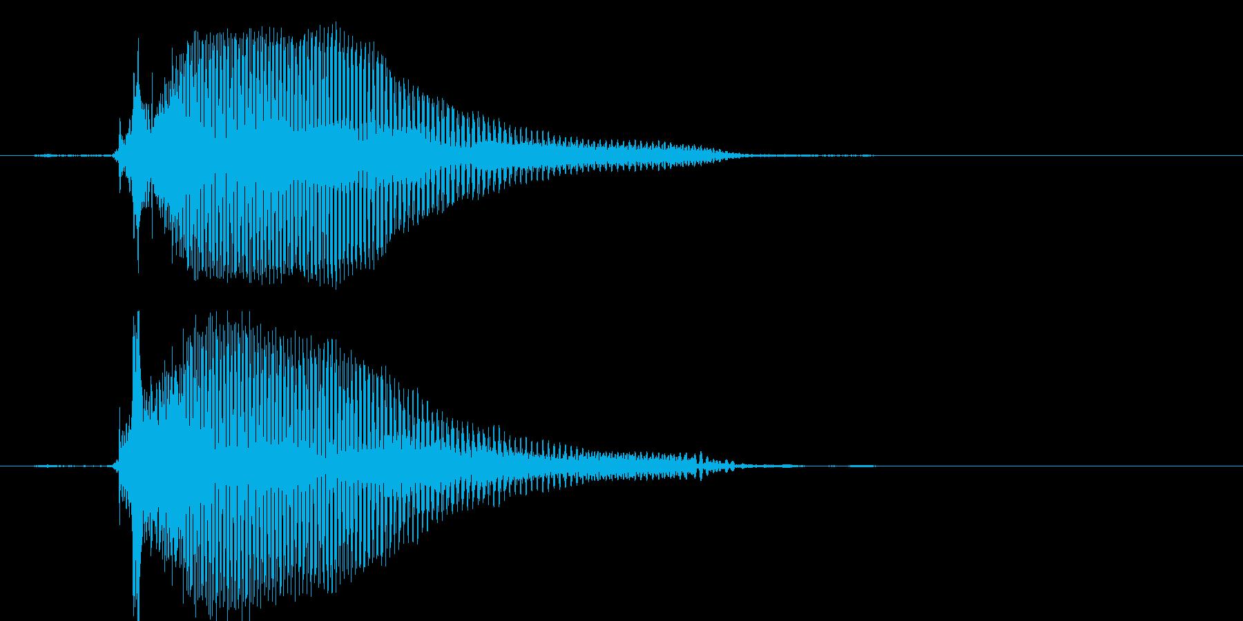 ちゅー(1歳児の生声です)の再生済みの波形