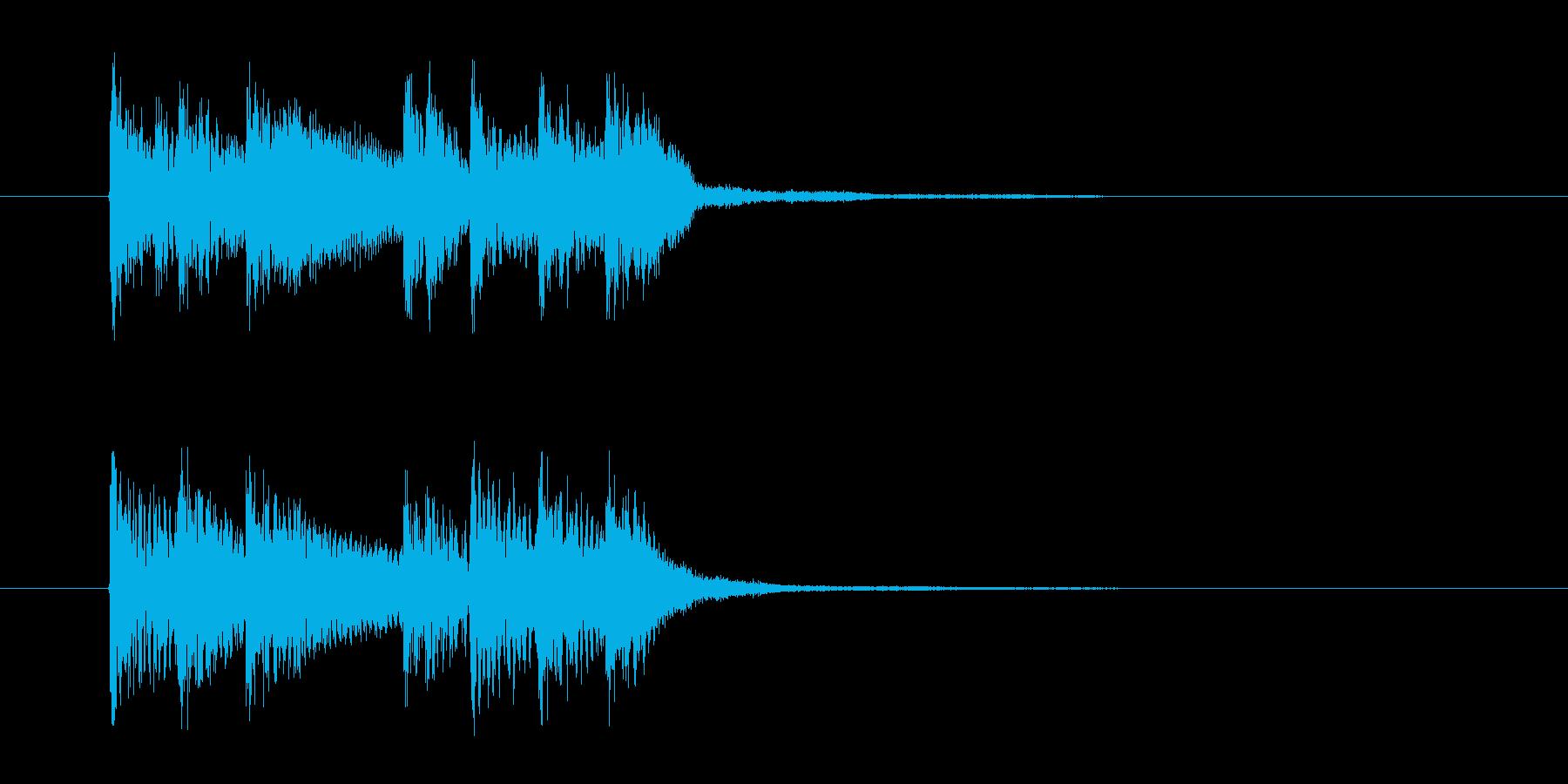 シリアスで勢いのあるシンセサウンドの再生済みの波形