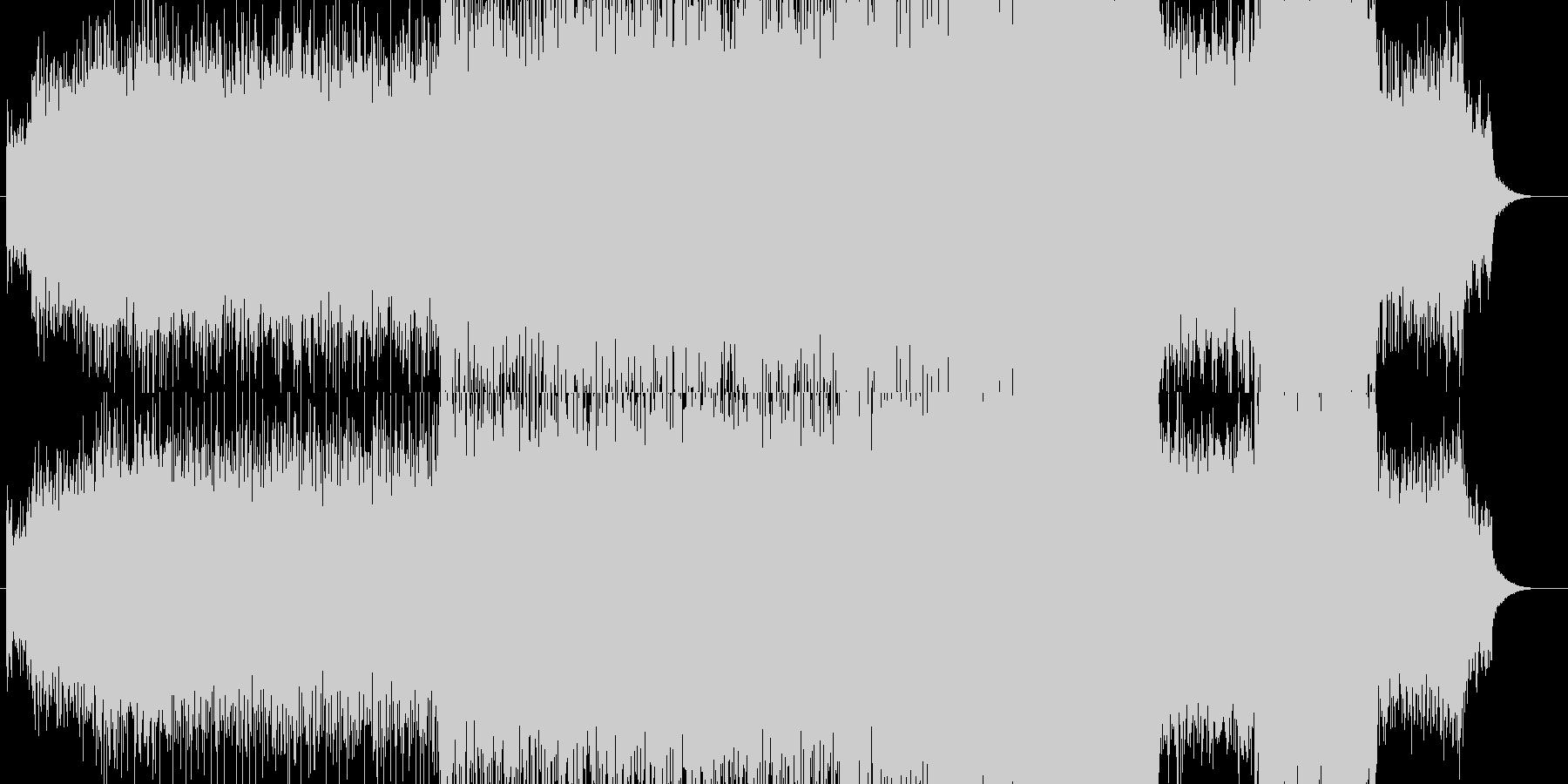 雨の中、侍が歩いているイメージです。の未再生の波形