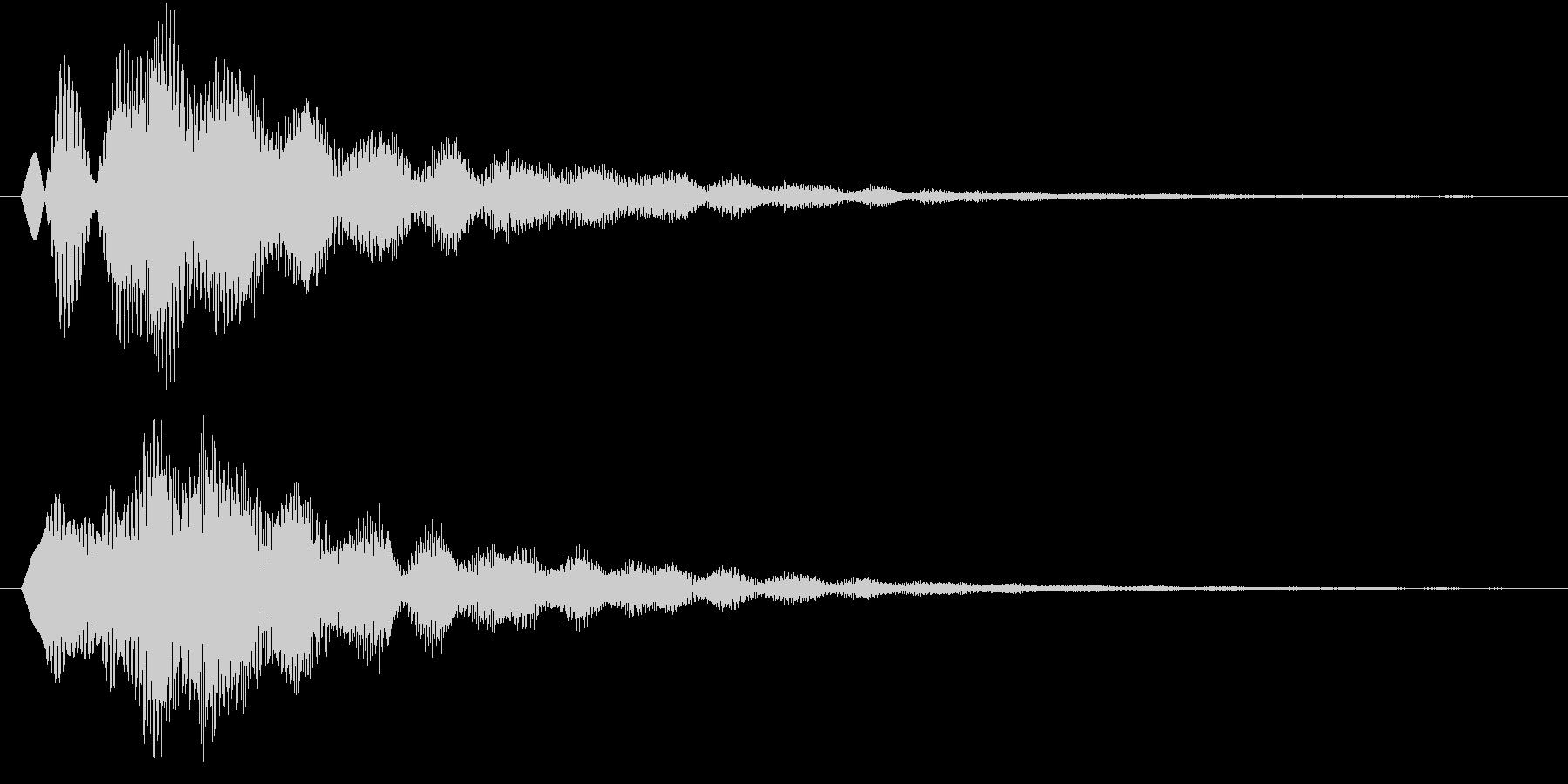 ピヨーン(キラキラ、アプリ、ゲーム)の未再生の波形