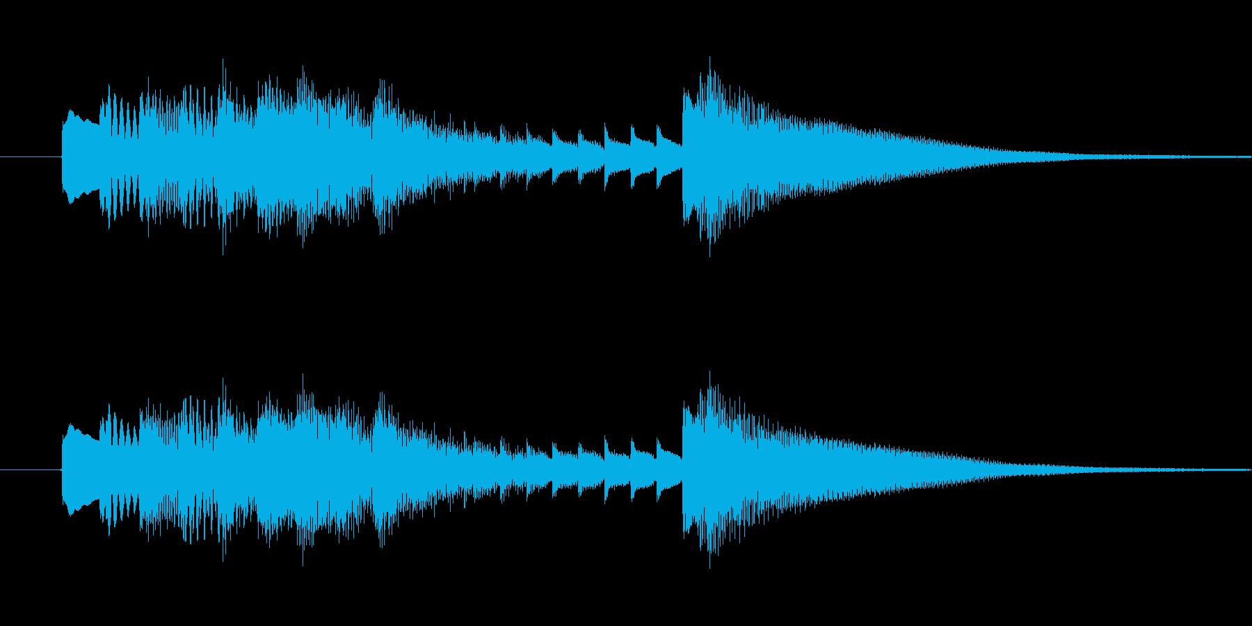 ゲームや映像に使える和風ジングルです。の再生済みの波形