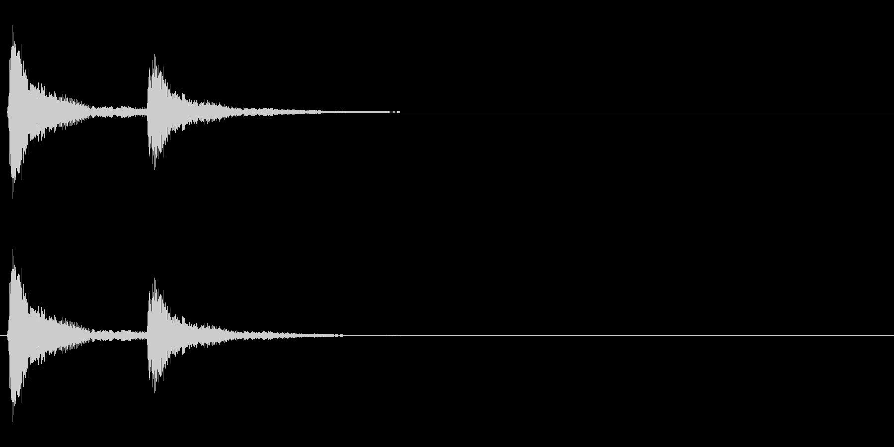 音侍「チチン」お囃子の当たり鉦の連打音の未再生の波形