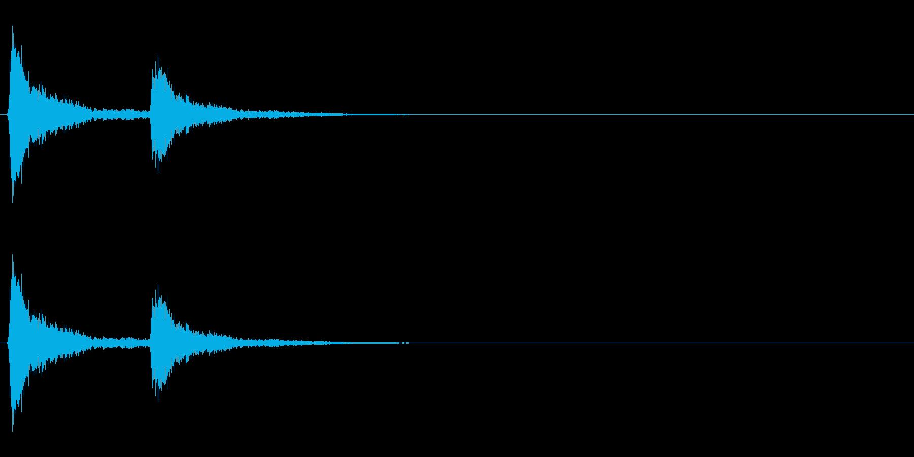 音侍「チチン」お囃子の当たり鉦の連打音の再生済みの波形
