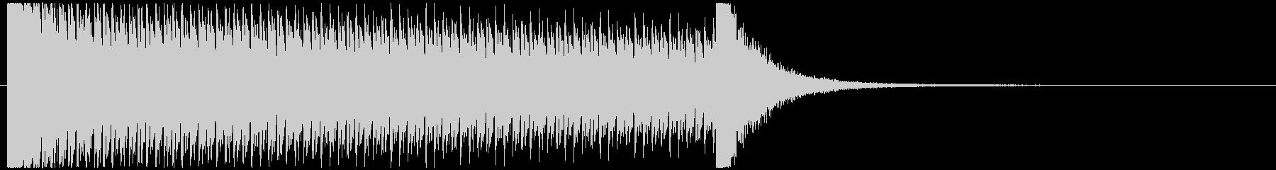 10秒ドラムロールの未再生の波形