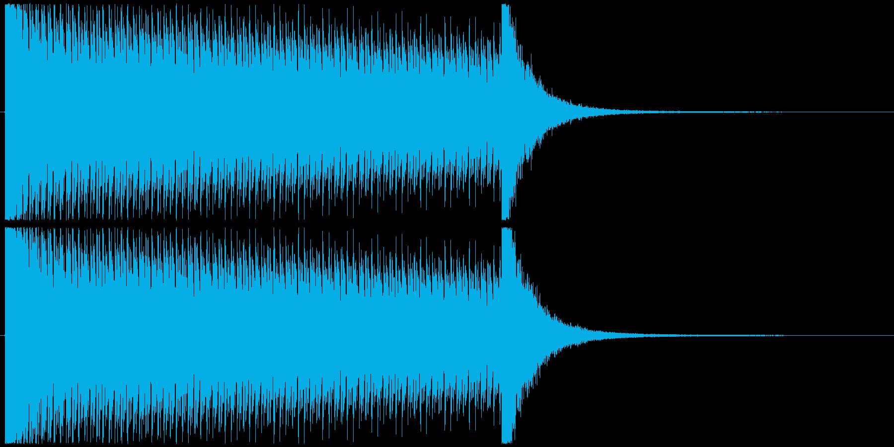10秒ドラムロールの再生済みの波形