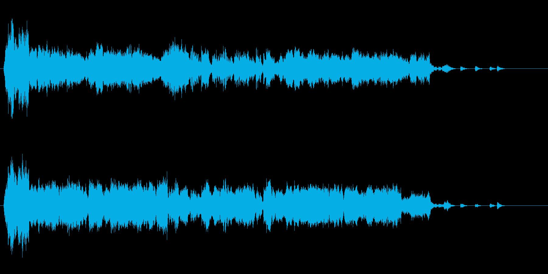 RPGの勝利後ファンファーレオーケストラの再生済みの波形