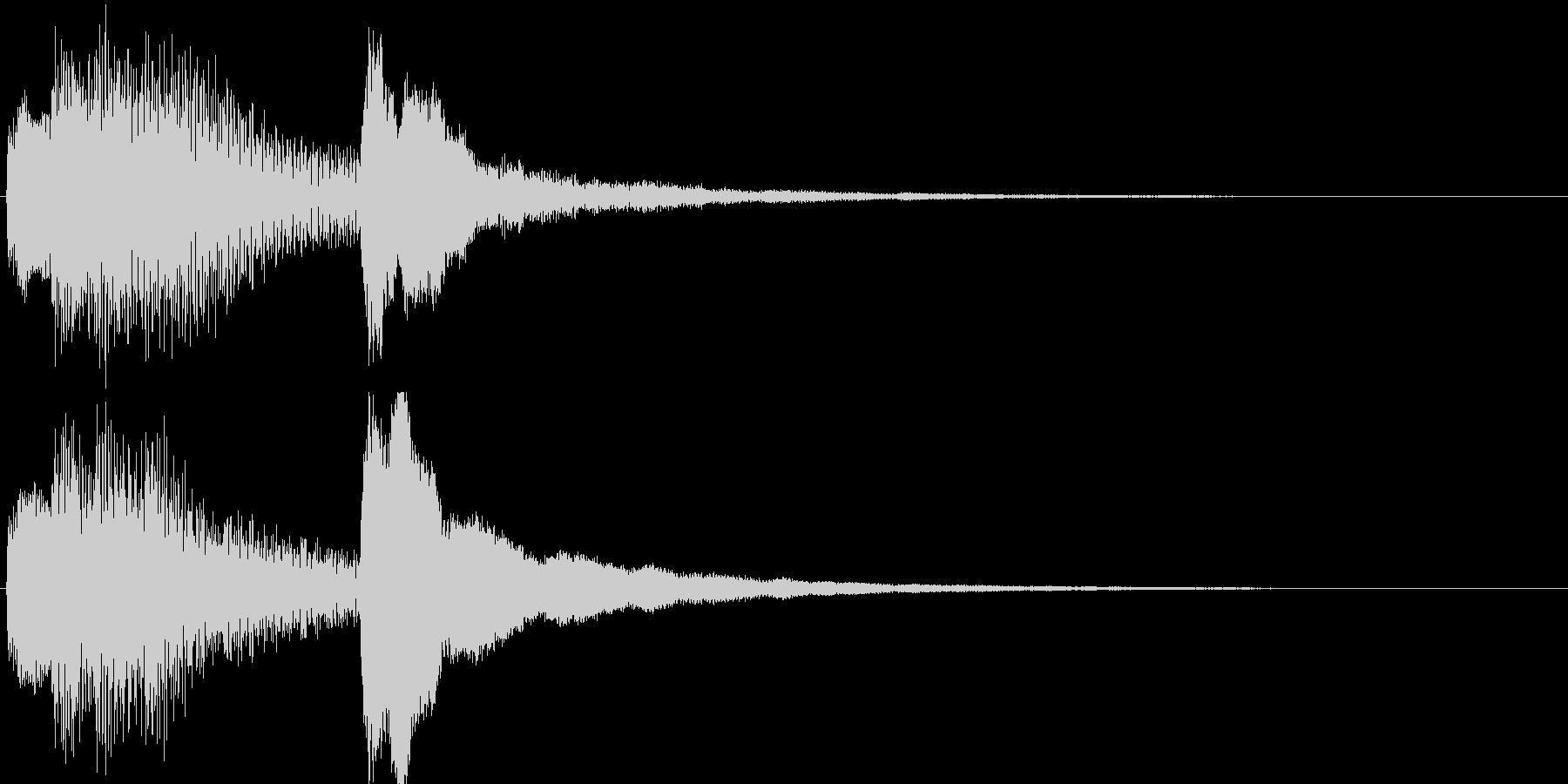 ジングル・お知らせ(ピアノ)の未再生の波形
