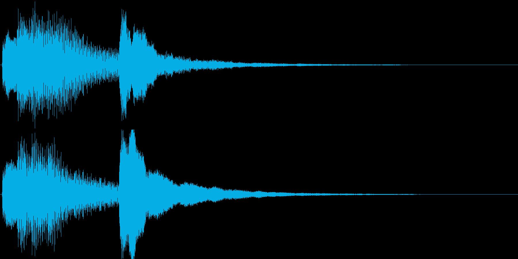 ジングル・お知らせ(ピアノ)の再生済みの波形