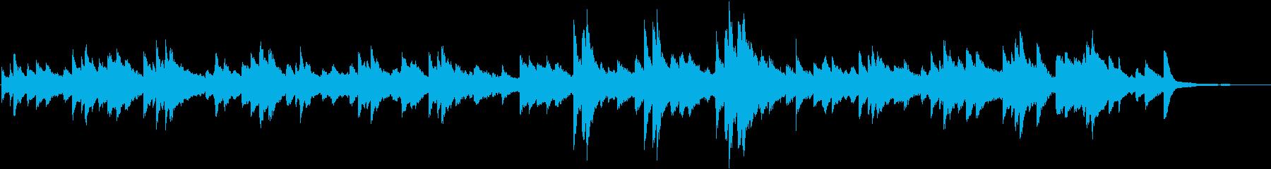 喪失感を抱えたピアノメインのバラードの再生済みの波形