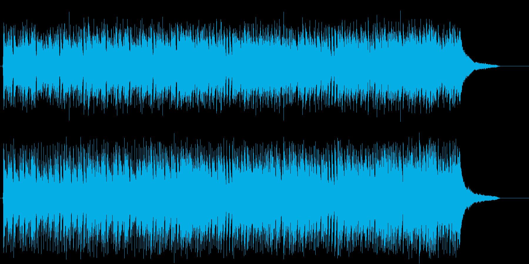 哀愁と期待のニューミュージック風ポップスの再生済みの波形