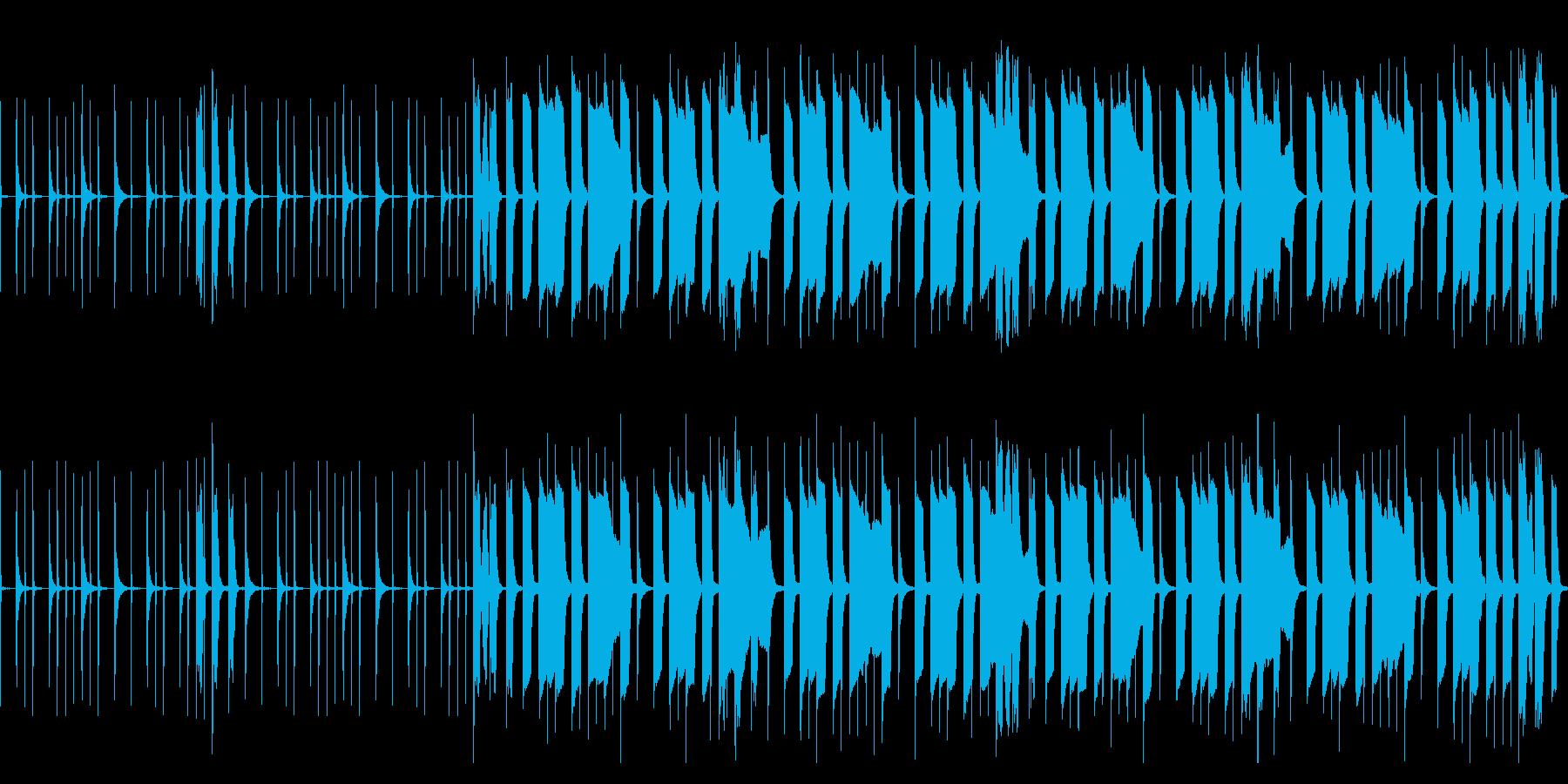 シンセブラスとパーカッションのぐだぐだ曲の再生済みの波形