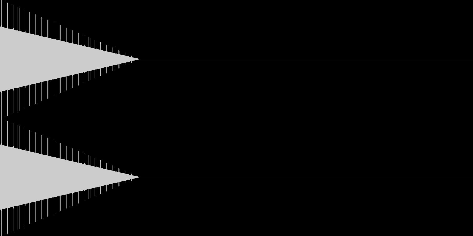 [プッ]カーソル移動/決定音/04の未再生の波形