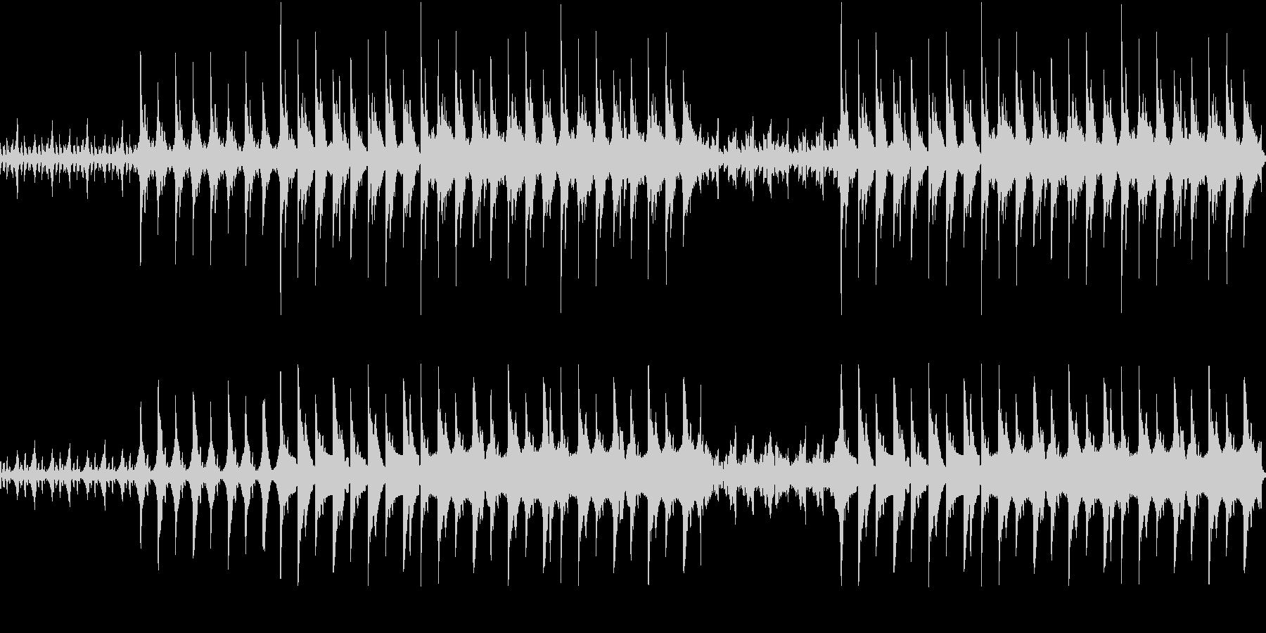 幻想的なピアノとシンセのエレクトロニカの未再生の波形