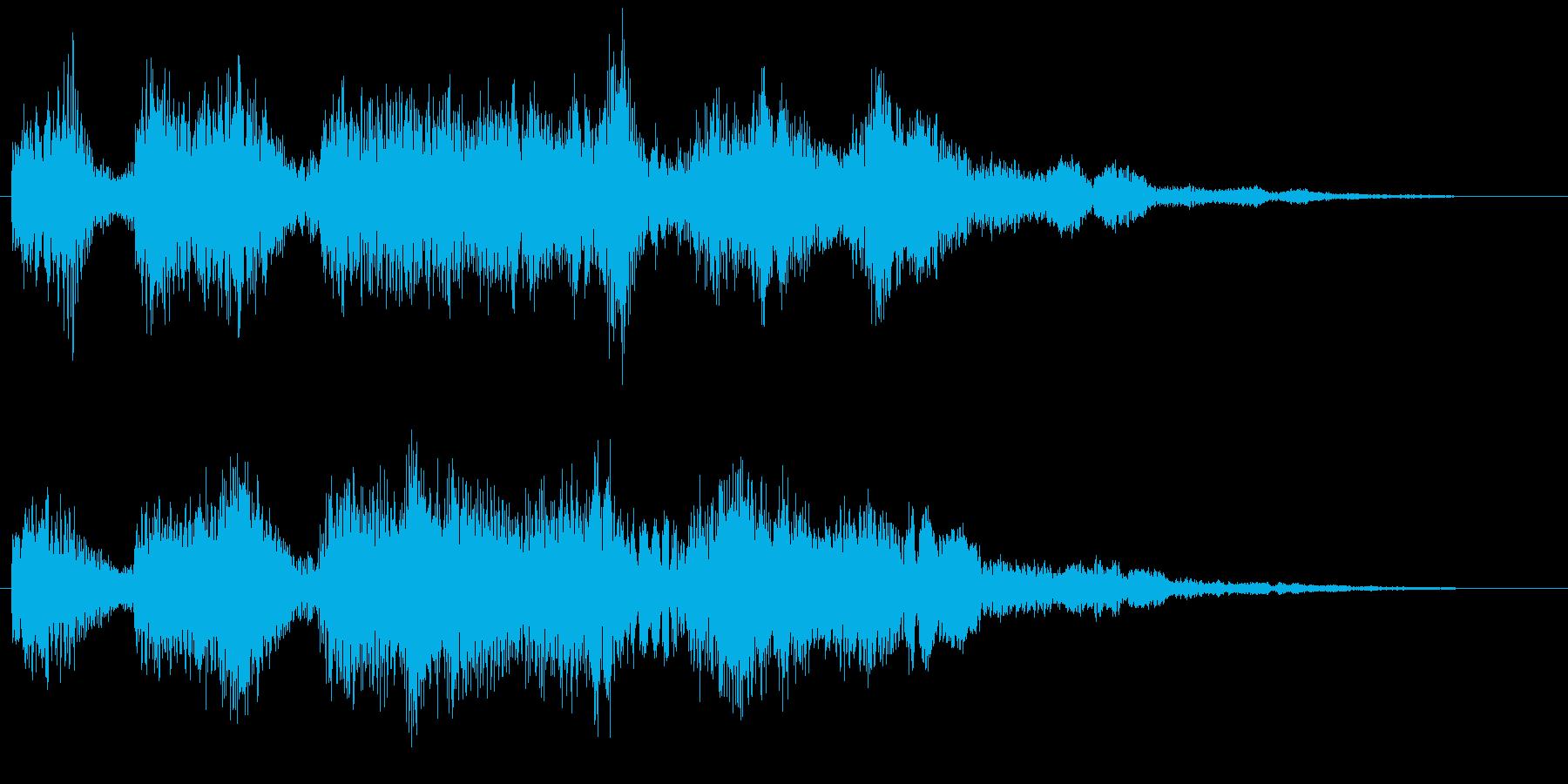マヌケな1フレーズ 面白いゲームオーバーの再生済みの波形