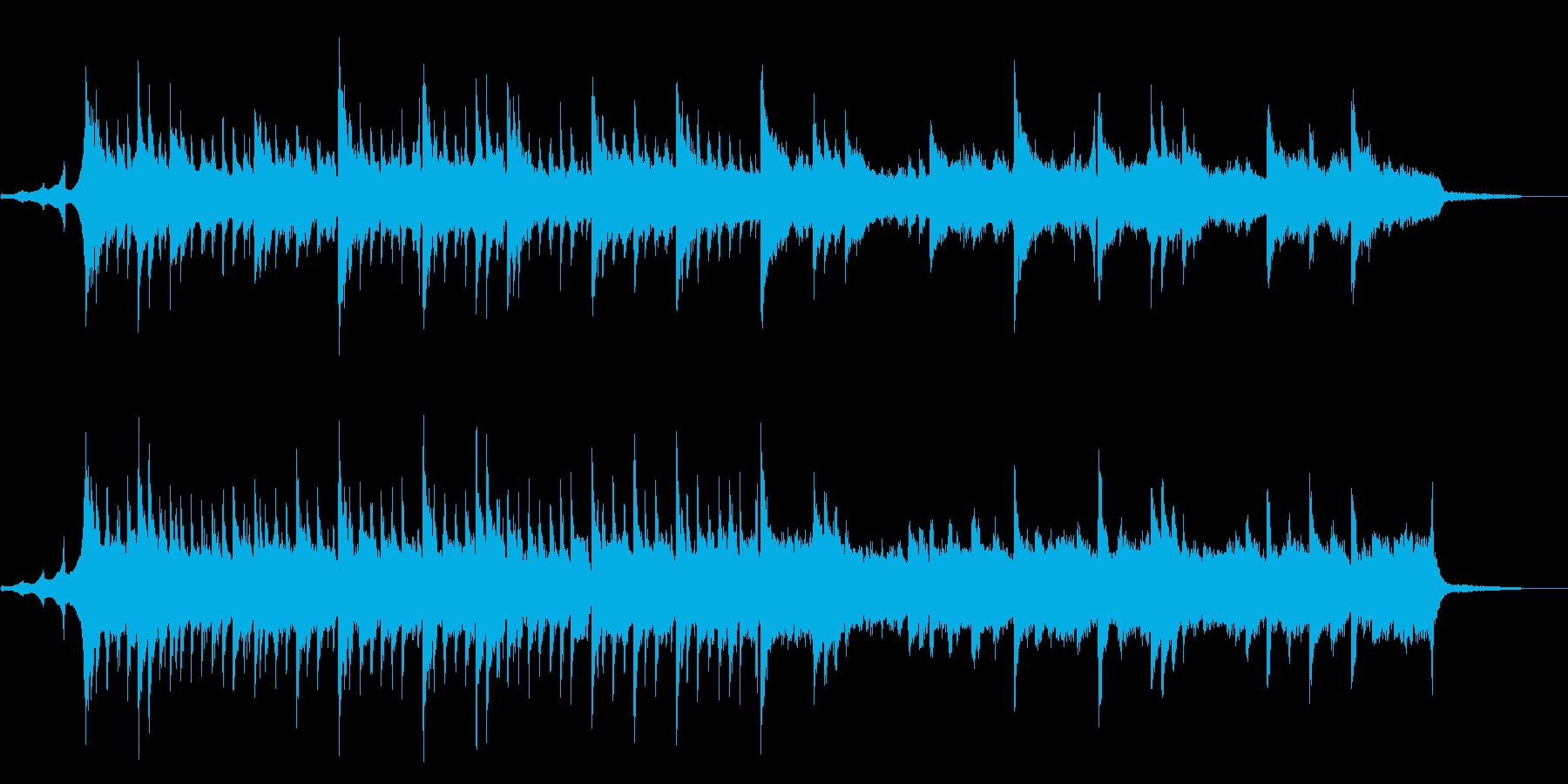 クリスマスのイルミネーションの様なBGMの再生済みの波形