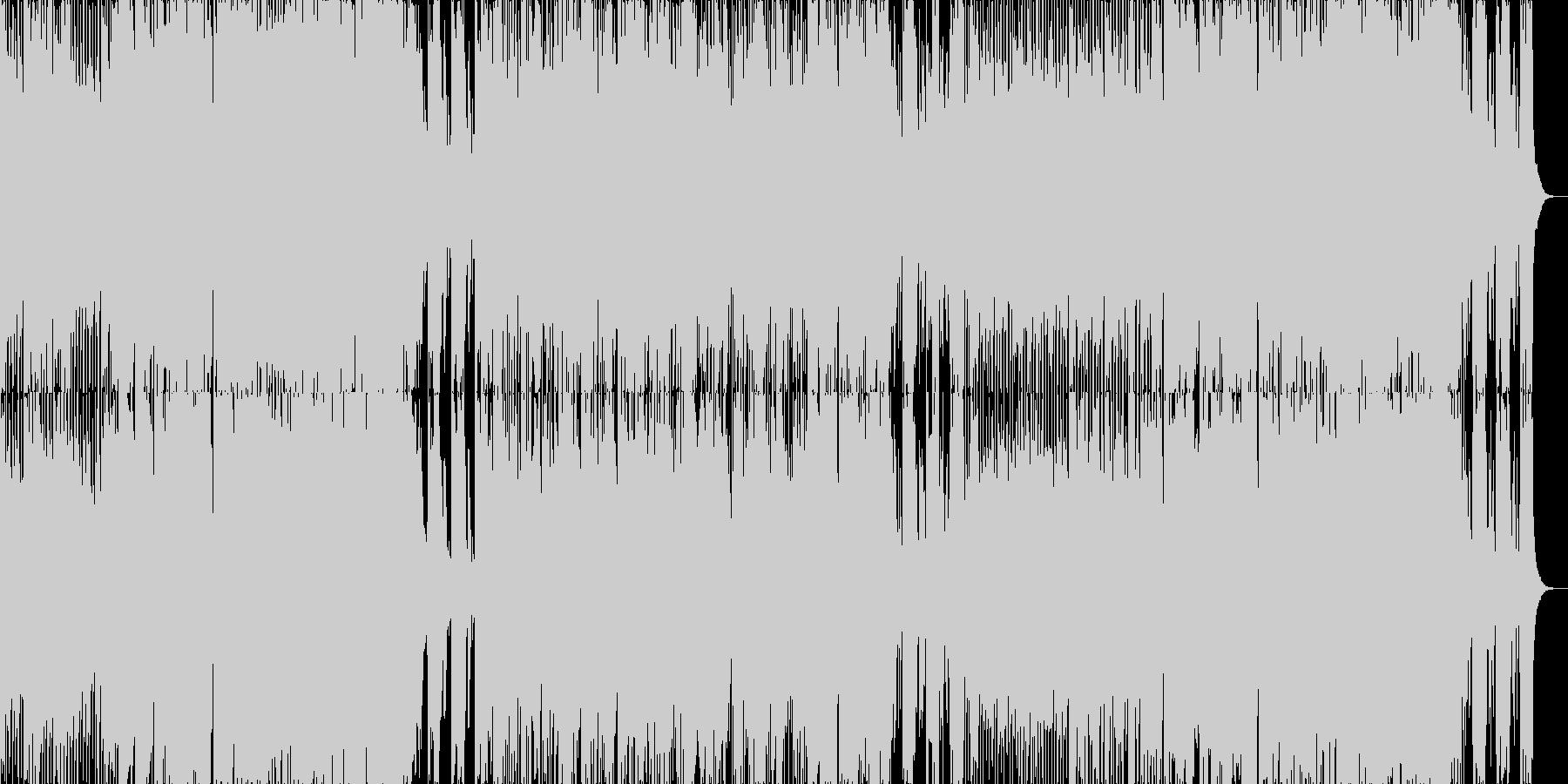 テンポの速い、勢いのあるジャズポップスの未再生の波形