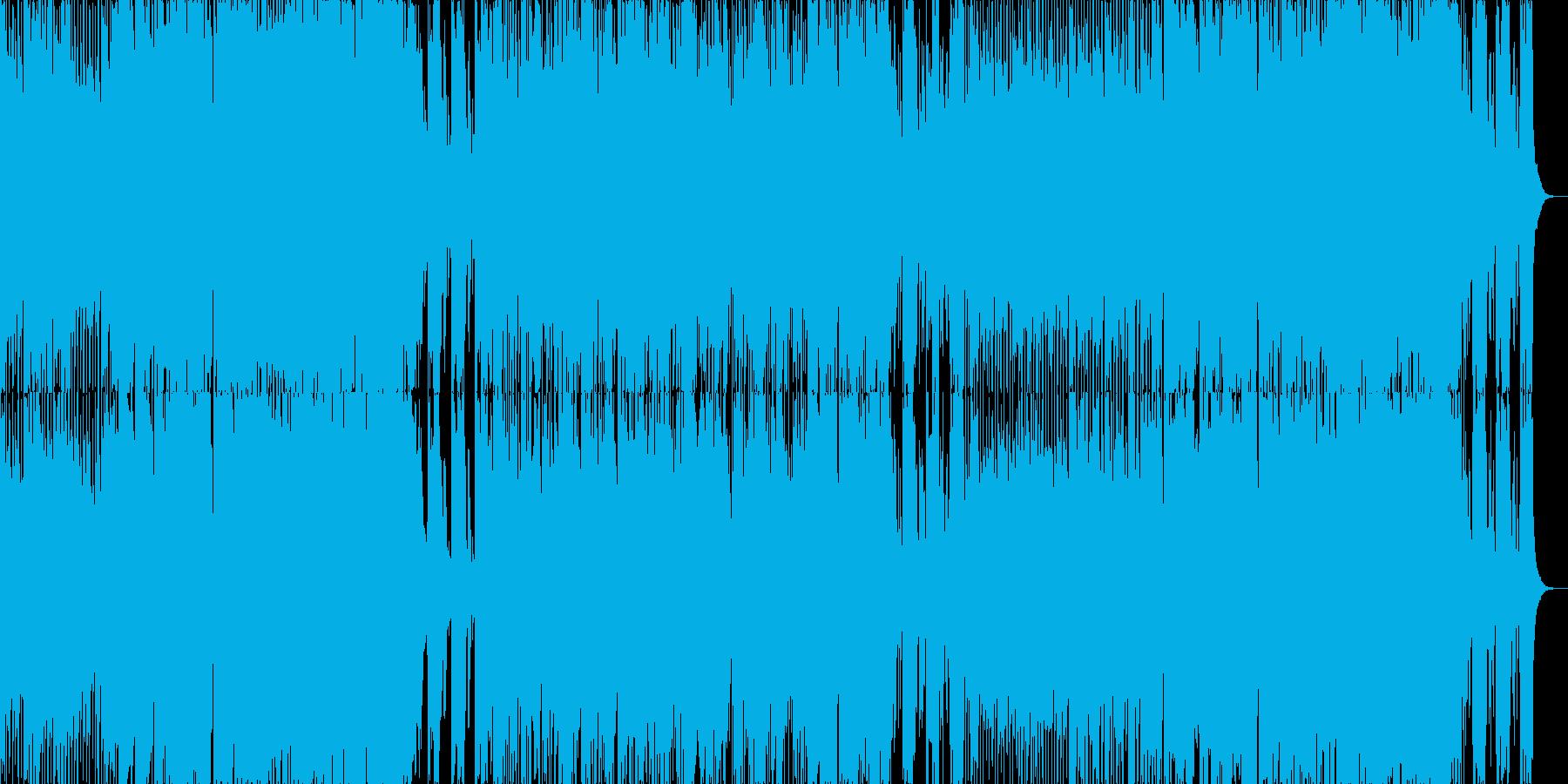テンポの速い、勢いのあるジャズポップスの再生済みの波形