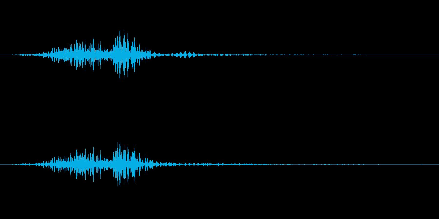 環境設定SE_チェックボックスを外すの再生済みの波形
