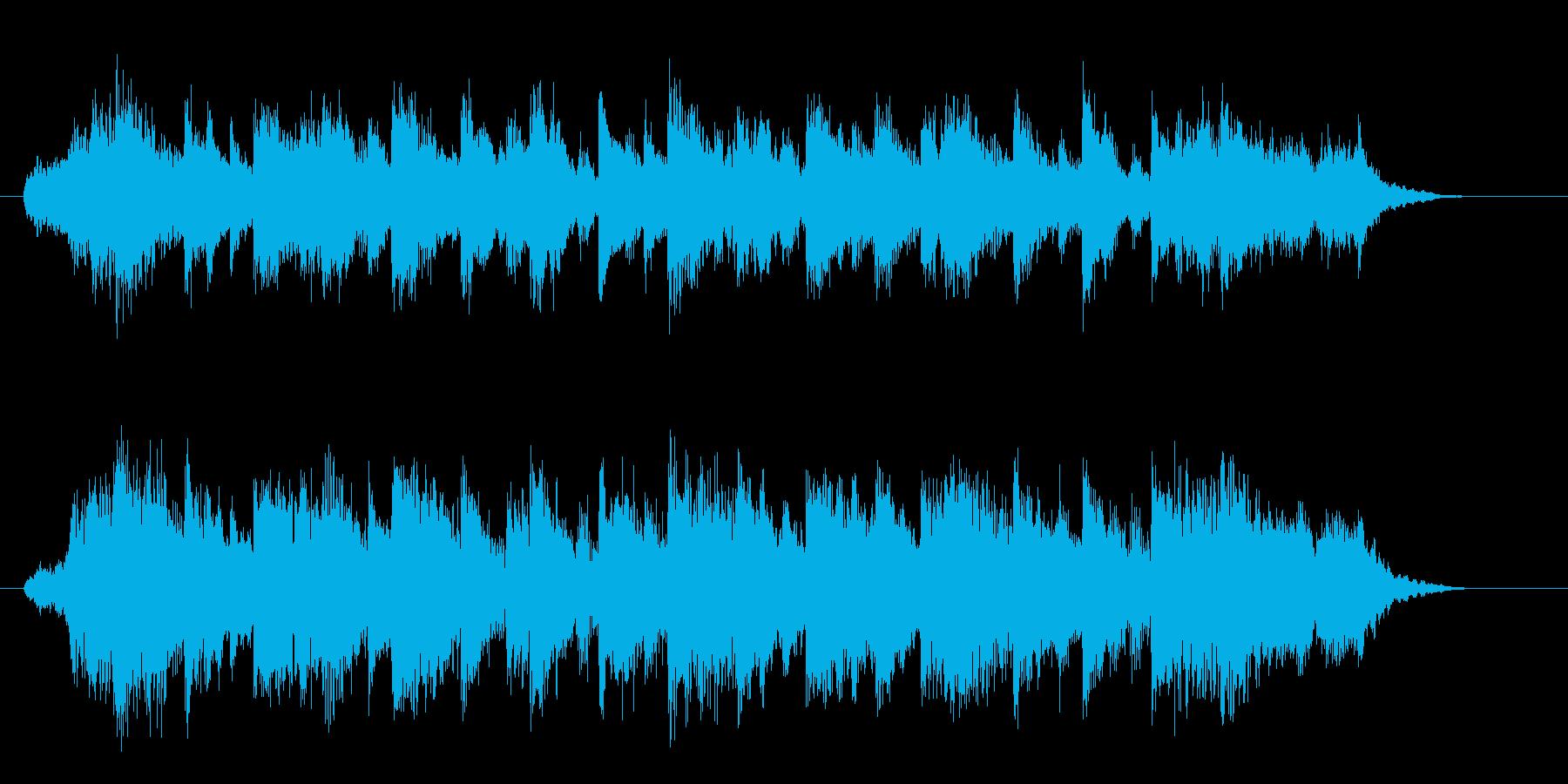壮大で美しいシンセサイザーサウンドの再生済みの波形