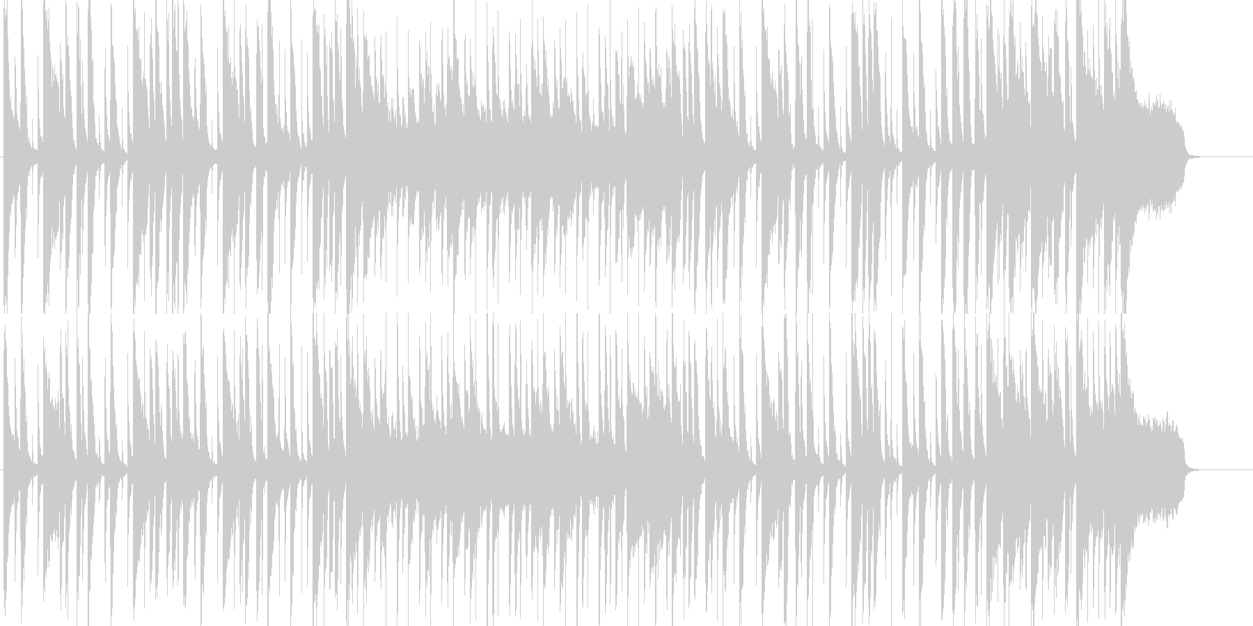 オープニングにぴったりのいきいきポップスの未再生の波形