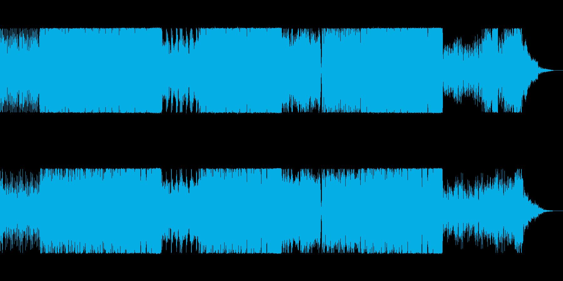 ケルト楽器を使ったピアノ伴奏の楽曲の再生済みの波形