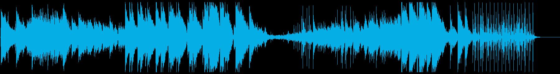 幻想的なギターサウンドの再生済みの波形