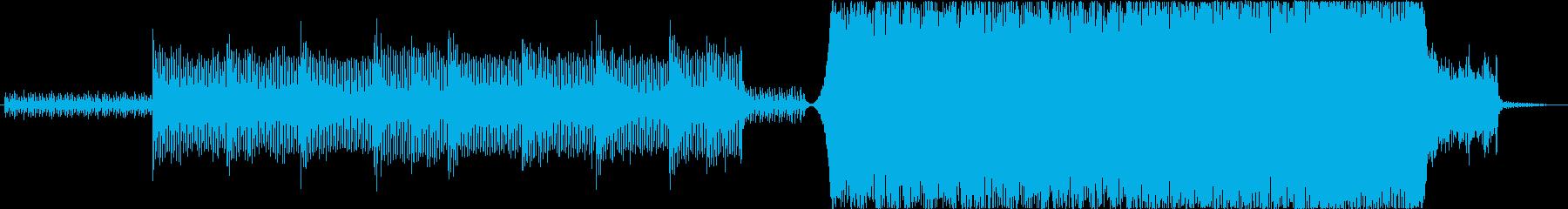 ストリングス、ブラス、ピアノ、E.Gの再生済みの波形