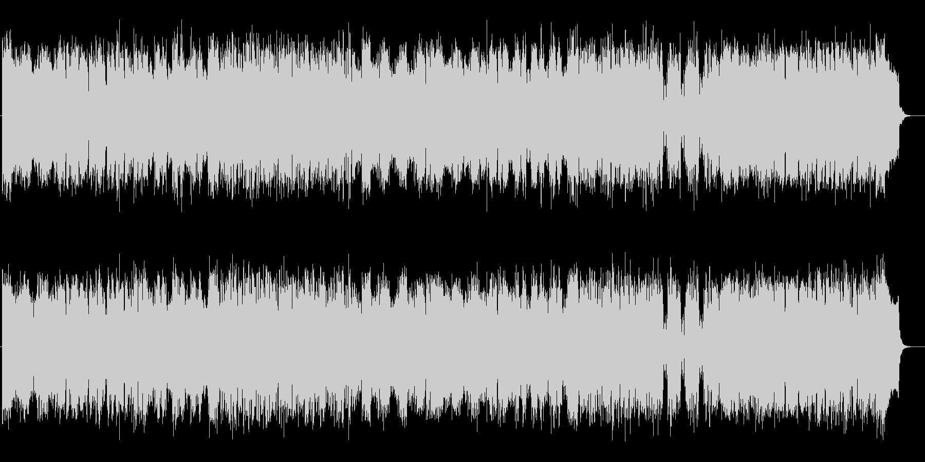 懐かしい宇宙的コンピューターミュージックの未再生の波形