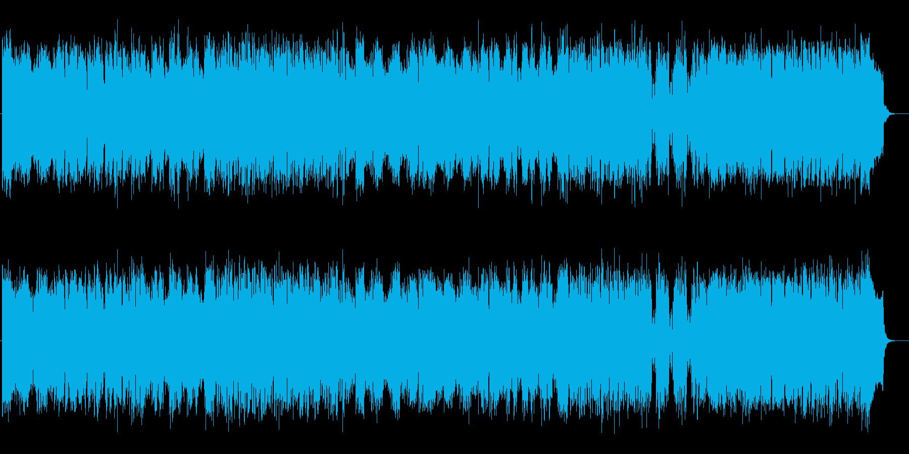 懐かしい宇宙的コンピューターミュージックの再生済みの波形