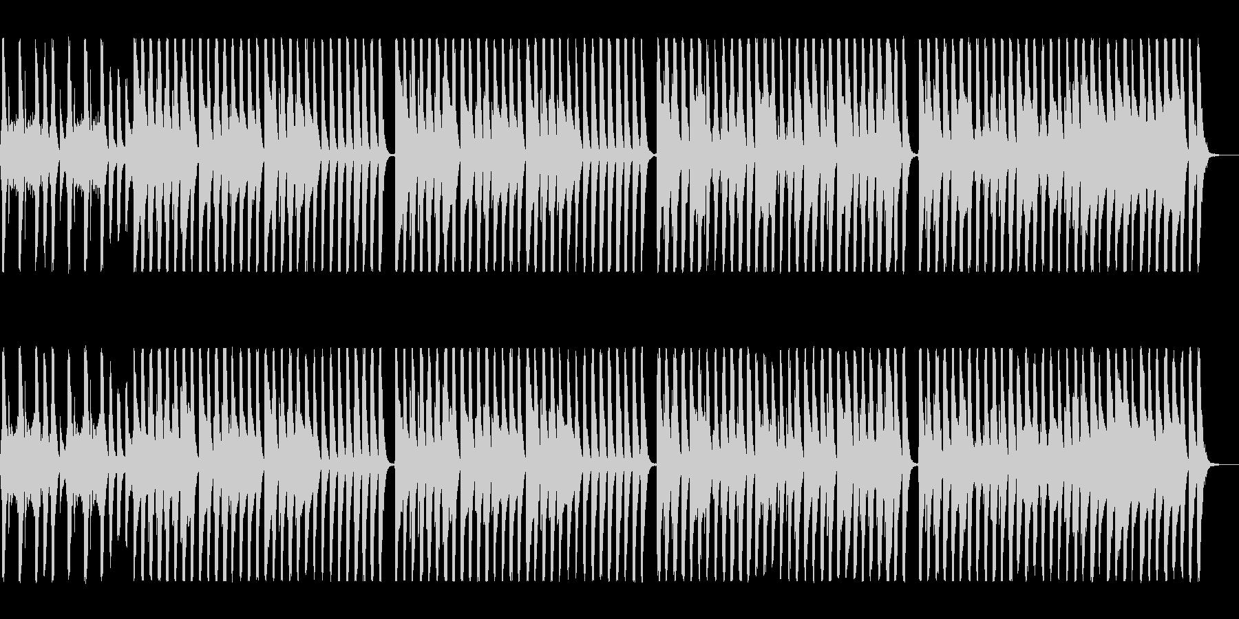 明るく元気なシンセオルガンサウンドの未再生の波形