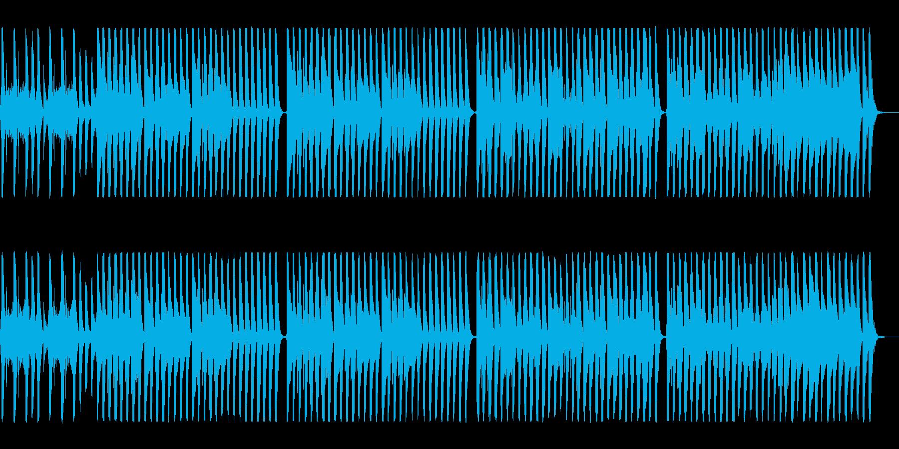 明るく元気なシンセオルガンサウンドの再生済みの波形