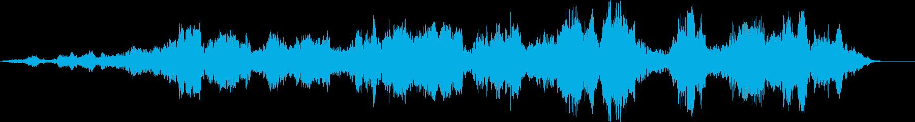 逆回転ざわめきの再生済みの波形