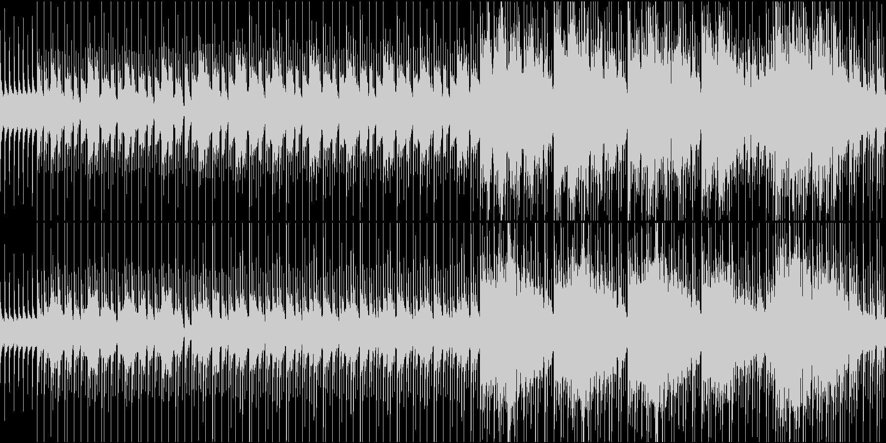 物悲しい雰囲気のスローテンポ和風曲ループの未再生の波形